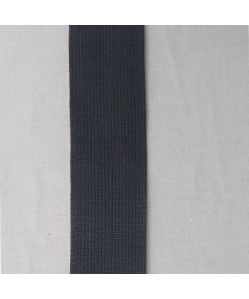 Sangle 100% coton gris moyen 50 mm ép 2 mm